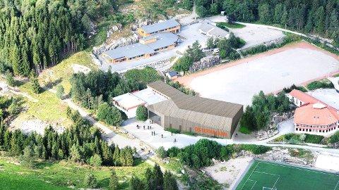 AP, SP, KrF, H og FrP ønsker å få med startmidlar til å byggje Osterhallen i økonomiplanen i Alver.