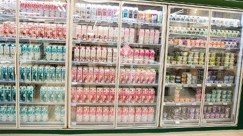 DYRARE: Mjølk og rømme er blant varene som er blitt dyrare så langt i år.
