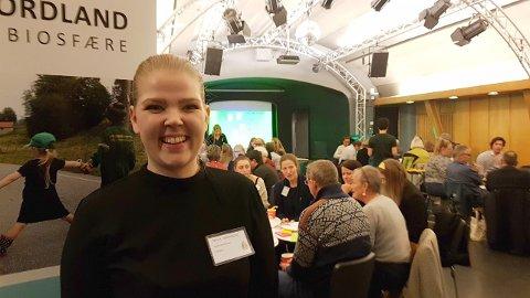 Alver-ordførar Sara Sekkingstad var blant dei over 70 personane som samla seg i Storelogen på Det Akadmiske Kvarter for å diskutere idear kring biosfæreområdet.