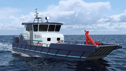 Dette blir den nye arbeidsbåten til Bergen Havn.