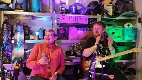 Sissel Lunde Sundby og Even Solheim heldt ein digital konsert fredag kveld.