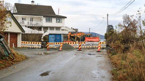 Prosjektet i Mjåtveitvegen på Frekhaug treng fleire millionar ekstra for å bli ferdigstilt.