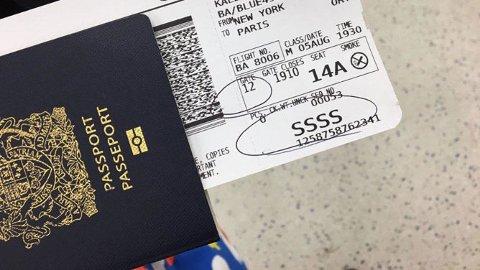 STRENGERE KONTROLL: Fra 26. oktober 2017 strammes reglene inn for passasjerer som skal reise inn til eller over USA, også ved norske flyplasser.
