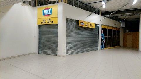STENGT: Mekk-butikken i andre etasje i Fauske Handelspark har holdt stengt siden mandag. Ifølge daglig leder Cecilie Fromsejer jobbes det for fullt med å etablere en ny butikk i de samme lokalene.