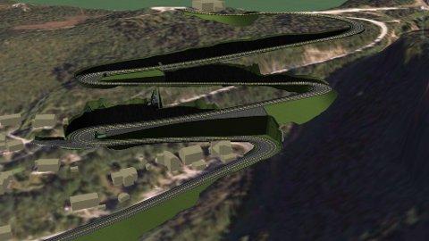 Slyngveien er veifaglig beste løsning, men 20 millioner kroner dyrere enn det andre alternativet.