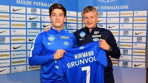 Mathias Normann og Molde-trener Ole Gunnar Solskjær
