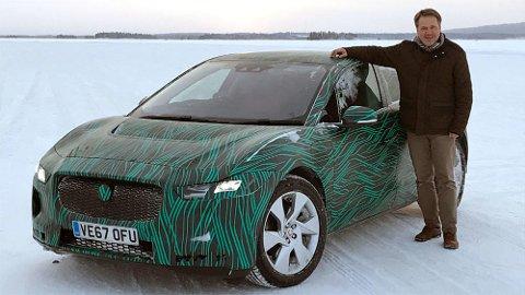 Jaguar har gitt oss en eksklusiv sniktitt på deres aller første elbil. Her er I-Pace på plass på et islagt vann, langt nord i Sverige.