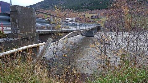 SKADER: Marlo Bru har fått skader på grunn av store vannmasser søndag morgen. Foto: Statens vegvesen
