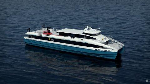 Moderne. De nye hurtigbåtene får skrog bygget med karbonfiber.