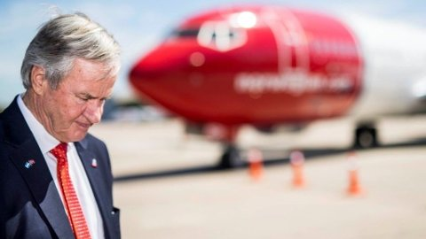 TUNGT MARKED: Norwegian-sjef Bjørn Kjos merker effekten av oljeprisen. Foto: Heiko Junge, NTB scanpix/ANB