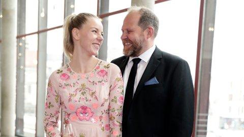 Truls Svendsen og kjæresten Charlotte Smith venter barn. Her er de under Gullruten tidligere i år. Foto: Berit Roald / NTB scanpix