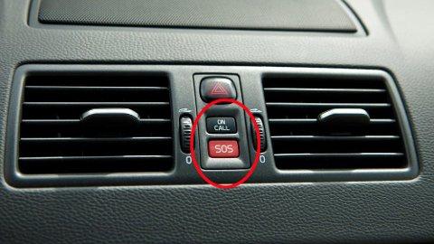 eCall betyr at bilen selv kan varsle når ulykken har vært ute. Volvo er blant de som er langt framme på teknologien allerede, dette er to velkjente knapper for mange Volvo-eiere.