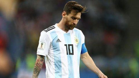 SKUFFET: Lionel Messi og Argentina hadde ingen god dag på jobben mot Kroatia torsdag.