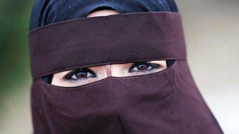 FORBUD: I Danmark er det nå forbudt å dekke til ansiktet i det offentlige rom. Foto: Lise Åserud / NTB scanpix