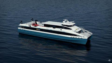 Den nye båten har en lengde på 48, 2 meter og en passasjerkapasitet på 220
