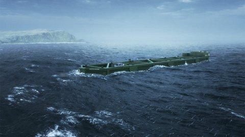 STOR OG KOSTBAR: Dersom Nordlaks får det som konsernet ønsker, vil den mobile havfarmen bli utplassert i havområdene nord for Hamarøy i løpet av 2022.