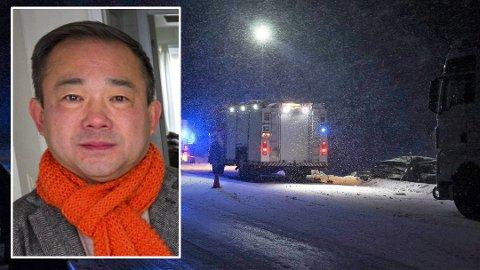 Reagerer: Næringslivsaktør Stephen Fu synes at flere bør ta grep for å unngå at dødsulykker og ulykker skjer på norske vinterveier.