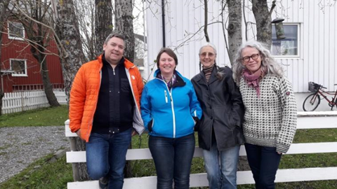F.v. Terje Cruickshank, Kaja Langvik-Hansen (ny leder), Helene Børsting og Tone Ask Aasen.