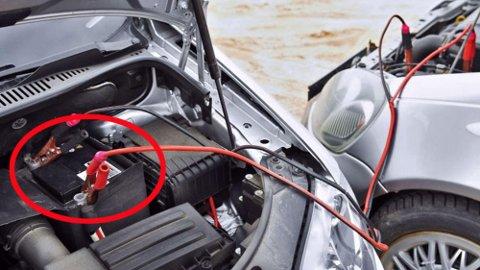 Dette er det vanlige bruksområdet for startkabler. Å bruke dem til å taue bil med er mer uvanlig.