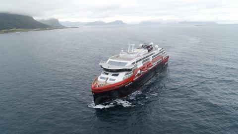 -  20190701. Hurtigrutens nye hybridskip MS Roald Amundsen.  Foto: Hurtigruten / NTB scanpix
