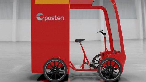 Posten tenker nytt og skal snart begynne å teste ut denne, en elvaresykkel som kan ha med seg hele 2,5 kubikk.