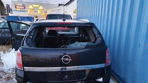 KNUST: Slik fant Kent Åge Johansen bilen torsdag.