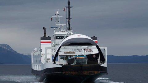 Dette er den nye ferga som skal sørge for trafikk til Kjerringøy.