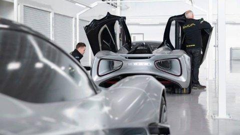 BEGRENSET OPPLAG: Lotus er i ferd med å bygge en ny fabrikk som skal produsere Evija. Det skal kun ferdigstilles 130 Evija-biler i året. Foto: (Lotus)