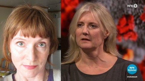 Anki Gerhardsen mener det var feil av NRK å la lege og forsker Gunhild Alvik Nyborg få så stor plass under Debatten tirsdag kveld.