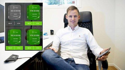 Til salgs: Martin Jensen (32) har rundt 200 telefonnummer han selger til ulike summer gjennom selskapet GullnummerAS. Foto: Arne Ristesund/Bergensavisen/skjermdump Gullnummer.no