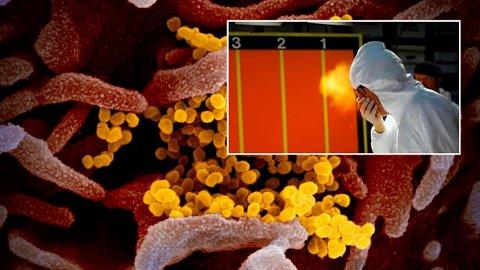 Virusdose: Å holde avstand handler ikke bare om å unngå å bli smittet. Det handler også om å begrense dosen virus du eventuelt skulle bli smittet med. Her viser Mythbusters hvordan smitte sprer seg ved nysing.