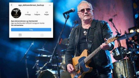 RYKENDE FORBANNET: Åge Aleksandersen og Sambandet har fått en falsk instagramkonto opprettet i sitt navn. Artisten er sjokkert over det som har skjedd og vil politianmelde saken.  FOTO: JOHAN ARNT NESGÅRD