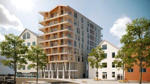 Det er andre gang Løvoldgården legges ut for salg. Nå med 52 leiligheter.