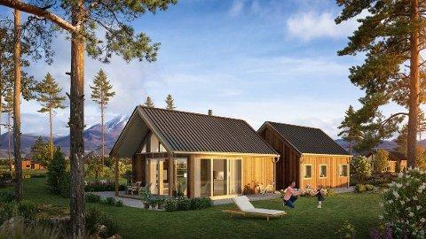 Et nytt hyttefelt er under etablering på Sandhornøy. Foto: Realtime.