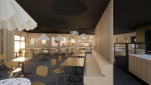 SPENENNDE: Slik ser skissene ut for den nye restauranten som etter planen skal åpnes på Rognan i november.