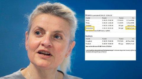 REAGERER: Direktør Inger Lise Blyverket i Forbrukerrådet reagerer på at NorgesEnergi kaller en forsikring for noe som forbindes med sparing. Foto: Berit Roald (NTB scanpix) / Skjermdump / Montasje: Nettavisen