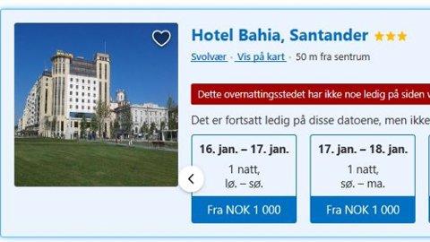 Slik ble hotellet presentert på bookingselskapets nettsider. Foto: Skjermdump