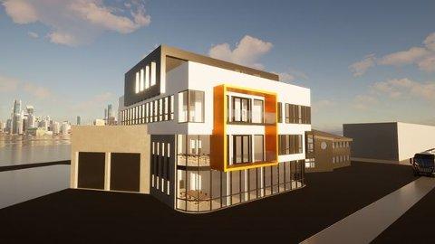 Slik ser skissene ut til Ess Partner AS nye industrilager og kontor.