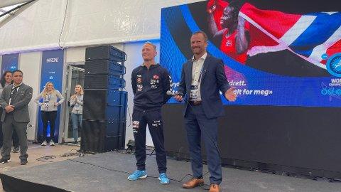 Brytepresident Ørjan Wenberg hyllet Stig Andre Berge, som ble takket av for en lang karriere i helga. Wenberg var rørt og stolt etter et meget vellykket VM i Oslo.
