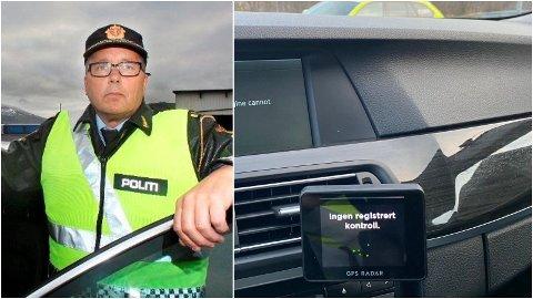FORTVILENDE: Geir Marthinsen mener GPS-radaren - som ikke slo ut for den rusede bilføreren da det var ruskontroll - er en stor utfordring i politiets kontrollarbeid.