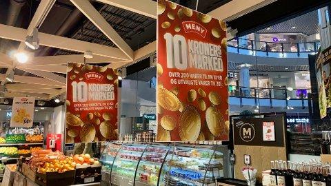 KAMPANJE: Det er et stort 10-kroners marked på Meny denne uken.