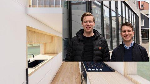 Store planer: Ståle Andreassen (til venstre) og Henrik Nørve er medeiere i Nordiske Minihus, nå vil de satse på minihus på hjul.