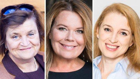 KARRIEREEKSPERTER: Elin Ørjasæter (fra venstre), Trine Larsen, Helene Tronstad Moe tror lange perioder med hjemmekontor vil kunne påvirke flere arbeidstakere negativt.