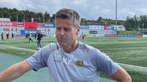 Kjetil Knutsen før onsdagens trening på Island. I kveld braker det løs mot Valur, og Glimt-sjefen har funnet sine 11 utvalgte fra start.