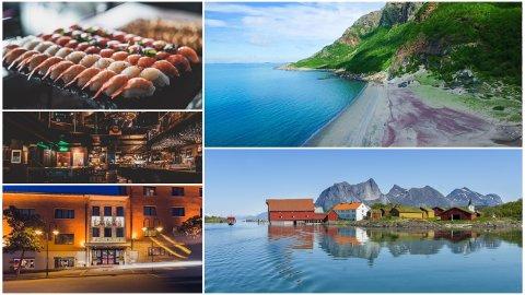 Disse stedene er blant de best rangerte i Bodø på Trip Advisor. Bildene er hentet fra hjemmesidene til de ulike stedene.
