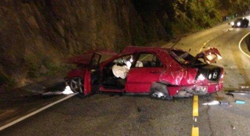 Bilen fikk store materielle skader i krasjen i Birkelundsbakken 14. juli i fjor.
