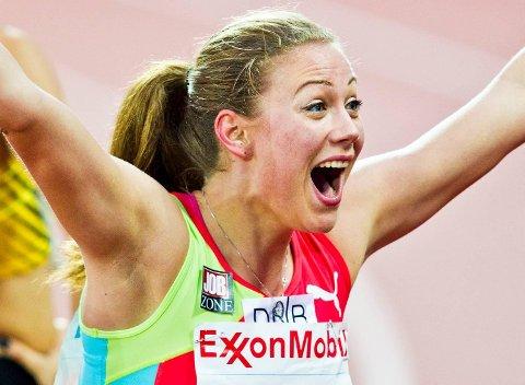 Isabelle Pedersen er raskere enn noensinne. Lørdag satte hun ny pers på 60 meter hekk og ble nummer to i et internasjonalt stevne i Belgia. Arkivfoto: NTB Scanpix