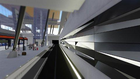 Slik skal kunstverket som skal pryde den nye terminalen på Flesland se ut.