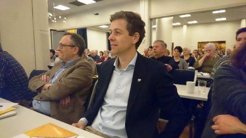 Knut Arild Hareide er tilstede på Hordaland KrF sitt årsmøte.