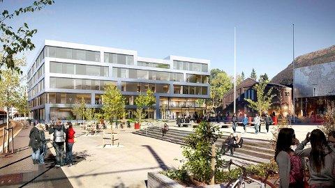 Vinnerutkastet til det nye bygget til Høgskulen på Vestlandet på Kronstad heter «Edens hage».